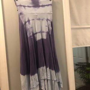 Tye Dye Strapless Free People Dress